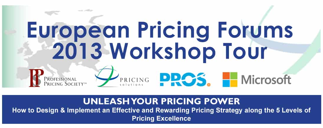 European Pricing Forums 2013 Workshop Tour