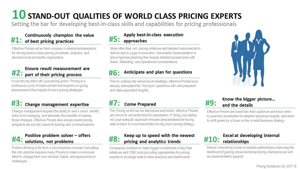 pricing capabilities successful expert pricer